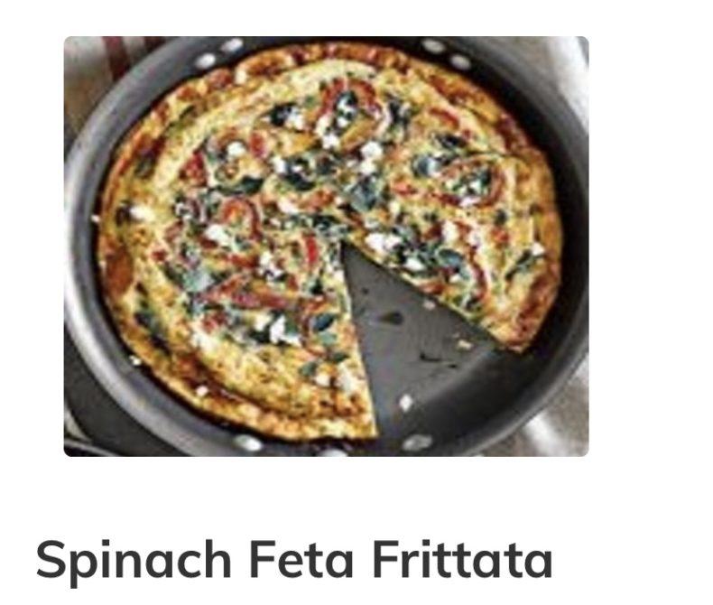 spinach feta frittata